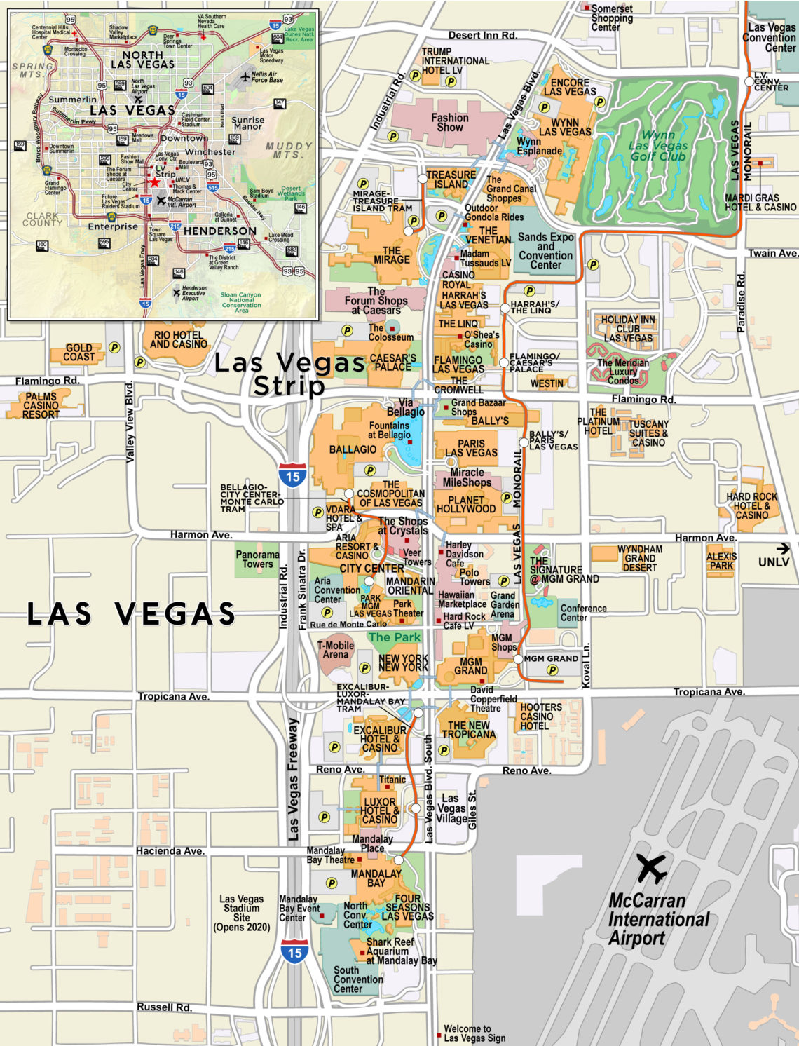 Las Vegas Casinos Map