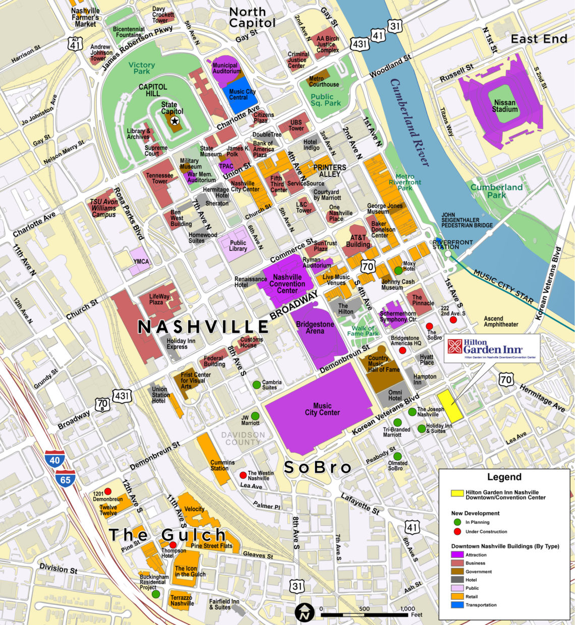 It is an image of Stupendous Printable Map of Nashville