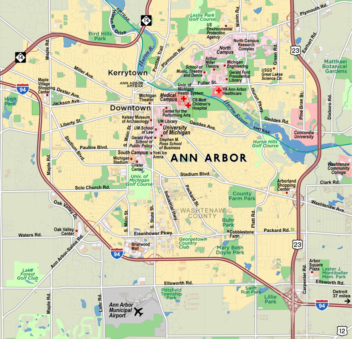 Map Of Ann Arbor Michigan Ann Arbor, Michigan | Red Paw Technologies