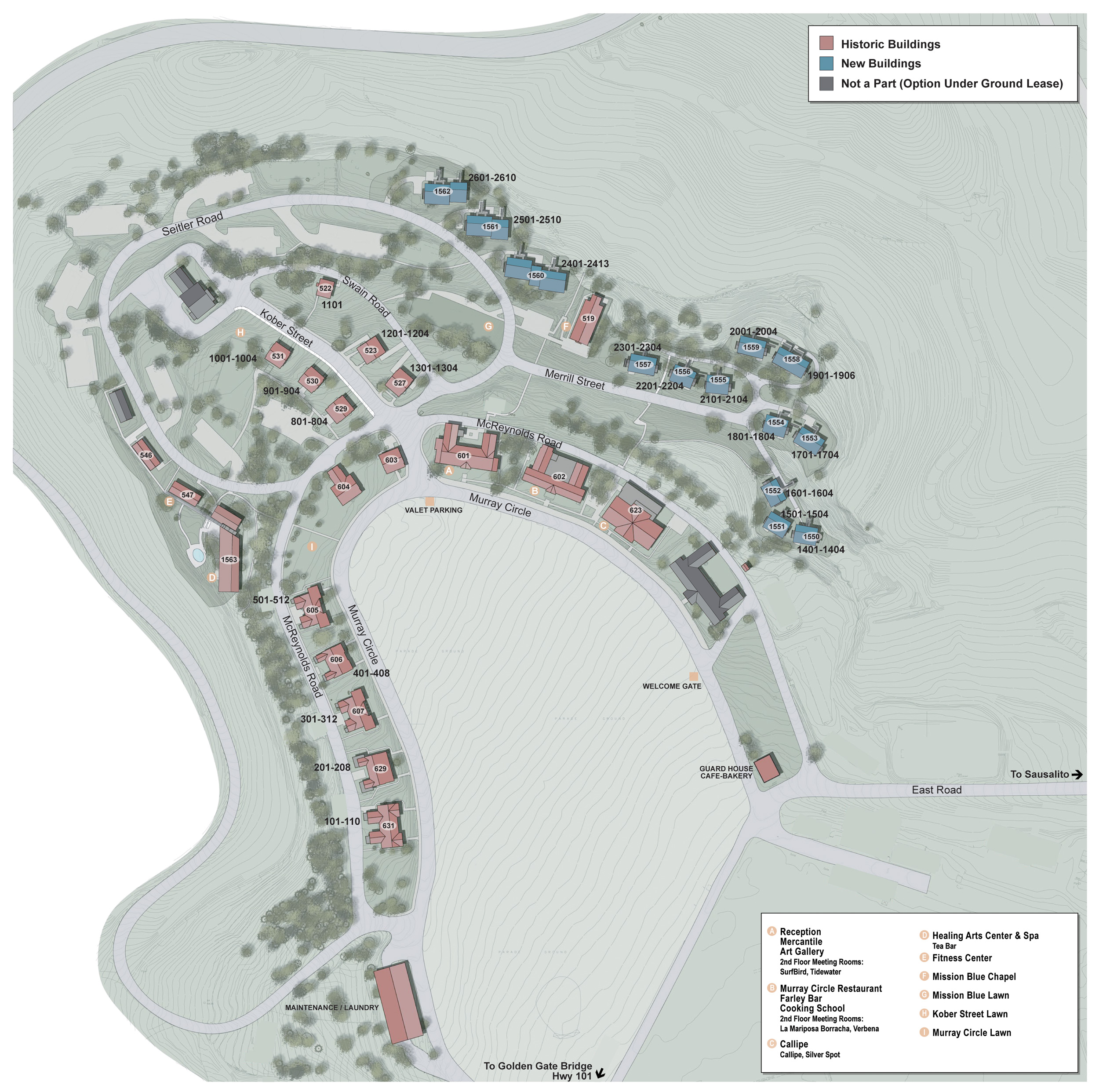 Custom GIS Mapping - Cavallo Point, Sausalito, CA - Red Paw Technologies