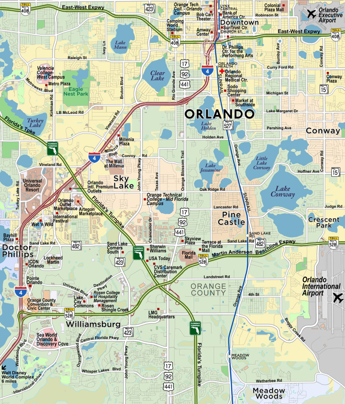 greater orlando area map Custom Mapping Gis Services Orlando Fl Red Paw greater orlando area map